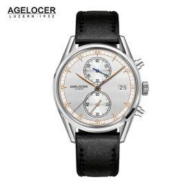 Agelocer Trinidad SS/White/LE - Cal.A2500 Chrono Quartz - Rose Gold Markers