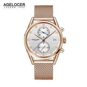 Agelocer Trinidad RG/White/RG - Cal.A2500 Chrono Quartz