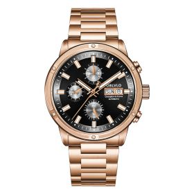 OBLVLO CM Series Men Designer Watch Rose Gold Automatic Watch CM-PBP