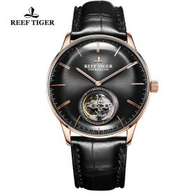 Seattle Tourbillon RG/Black/Black LE - Reef Tiger Tourbillon Auto