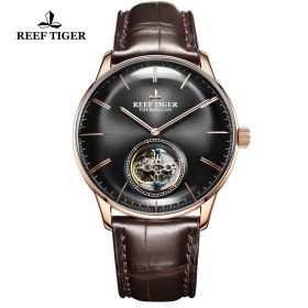 Seattle Tourbillon RG/Black/Brown LE - Reef Tiger Tourbillon Auto