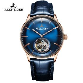 Seattle Tourbillon RG/Blue/Blue LE - Reef Tiger Tourbillon Auto