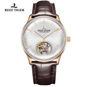 Seattle Tourbillon RG/White/Brown LE - Reef Tiger Tourbillon Auto
