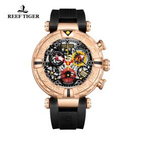 Aurora Air Bubbles RG/Black/RU - Reef Tiger RT685 Quartz