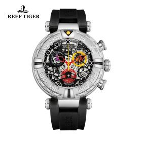 Aurora Air Bubbles SS/Black/RU - Reef Tiger RT685 Quartz