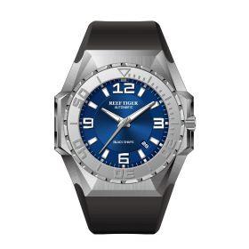 Aurora Black Shark Sport Watches Blue Dial Steel Case Automatic Waterproof Dive Watches RGA6903